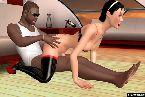 Sexe interracial entre deux joueurs en ligne de sexe en direct