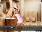 Spa bain chaud de baiser la jeune fille dans une serviette