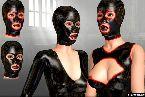 Costumes latex de masque en caoutchouc dans bdsm jeux douloureux