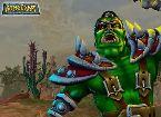 Soldat de monstre vert se bat dans un jeu cosmique baiser