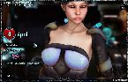 Chaud modele 3d dans l'espace sci fi de jeu porno